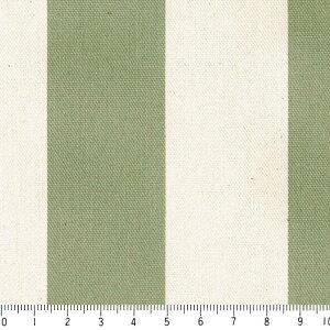 生地 ストライプ おしゃれ オックス生地 36ミリ st3636-48 オリーブグリーン 太め ボーダー柄 北欧風 緑 グリーン 10cm単位 やや厚手 生成りオックス生地 綿100% 110cm 布 カルトナージュ トートバ