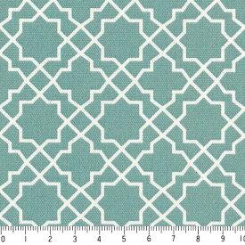 アラベスク ネガ 7555-52 ターコイスブルー モロッカン モロッコ ダマスク アラベスク 夜柄 緑 グリーン おしゃれ きれい 10cm単位 やや厚手 生成りオックス生地 綿100% 110cm 布 カルトナージュ 生地 商用利用可 生地
