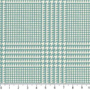 チェック柄 生地 おしゃれ オックス生地 グレンチェック 7973-52 ターコイスブルー glen check 緑 グリーン きれい 10cm単位 やや厚手 生成りオックス生地 綿100% 110cm 布 クッション エプロン バッグ