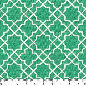 アラベスク ネガ 7555-55 エメラルドグリーン モロッカン モロッコ ダマスク アラベスク 夜柄 緑 グリーン かわいい 男の子 10cm単位 やや厚手 生成りオックス生地 綿100% 110cm 布 カルトナージュ 生地 商用利用可 生地