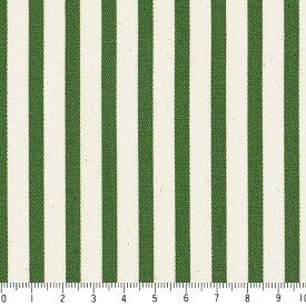 ストライプ 5ミリ st0507-61 アイビーグリーン 細め おしゃれでかわいい ストライプ ボーダー柄 緑 グリーン 10cm単位 やや厚手 生成りオックス生地 綿100% 110cm 布 カルトナージュ トートバッグ カーテン ハンドメイド小物 用途 商用利用可 生地