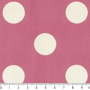 水玉 ドット 25ミリ ネガ 7886-65 グレイッシュピンク 2.5センチ ドット 夜柄 中サイズ ピンク おしゃれ 10cm単位 やや厚手 生成りオックス生地 綿100% 110cm 布 エプロン バッグ ハンドメイド カ