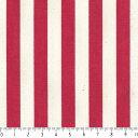 ストライプボーダー柄 1センチ 4872-70 RED レッド stripe 縞柄 生地 布 1cm 10mm 10ミリ 綿100% 生成りオックス生地 カルト...