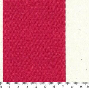 ストライプ 7センチ st7070-70 レッド 太い ストライプ ボーダー柄 おしゃれ 赤 10cm単位 やや厚手 生成りオックス生地 綿100% 110cm 布 北欧風 インテリア 生地 テーブルクロス カーテン バ