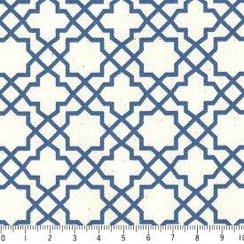 アラベスク ポジ 7556-77 ロイヤルブルー モロッカン モロッコ ダマスク アラベスク ブルー 男の子 10cm単位 やや厚手 生成りオックス生地 綿100% 110cm 布 カルトナージュ 生地 商用利用可 生地