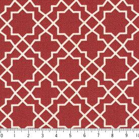アラベスク ネガ 7555-80 ダークレッド モロッカン モロッコ ダマスク アラベスク 夜柄 赤 10cm単位 やや厚手 生成りオックス生地 綿100% 110cm 布 カルトナージュ 生地 商用利用可 生地