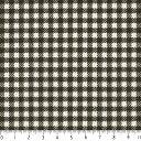 ギンガムチェック 3.5mm 3139-90 CHACOAL チャコール 3.5ミリ チェック柄 生地 綿 格子柄 布 綿100% 生成りオックス生地 カルトナージュ 生成り オックス 生地 綿100