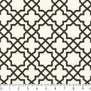 アラベスク柄 小 ポジ 7556-90 CHACOAL チャコール arabesque posi ダマスク モロッカン アラビア風の抽象模様 生地 布 生成り オックス 生地 綿100% 110cm幅