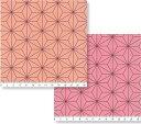 麻の葉柄 AL0310 ピンク 生地 生成り オックス 生地 綿100% 110cm幅 布 和柄 きめつのやいば 鬼滅の刃 27.ライトサー…