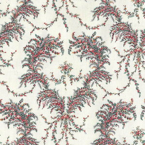 SEMBA SEISHINDO COLLECTION ローズハートリース柄 花柄 生地 おしゃれ オックス生地 8441-ss antique flower アンティークフラワー 小さなバラ 薔薇 布 綿100% 生成りオックス生地 カルトナージュ 10P03Dec16