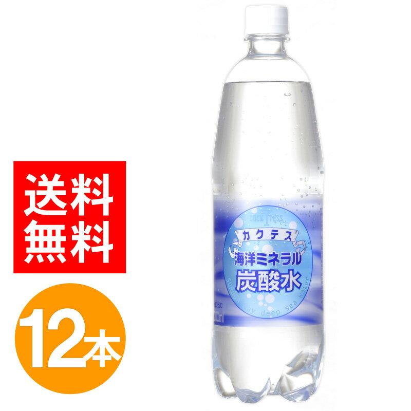 【送料無料】 カクテス 海洋ミネラル炭酸水 1,000ml×12本セット