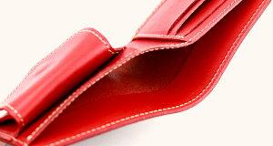 【栃木レザー】アンティーク染め本革二つ折り財布財布カード入れ小銭入れ札入れ日本製栃木レザー本革染め手染めアンティークギフトプレゼントGIFT