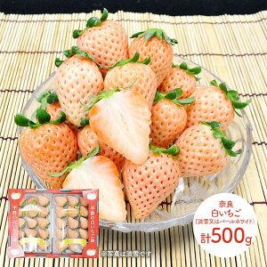 【送料無料】奈良 白いちご 250g×2 計500g フルーツ 果物 イチゴ 苺 白イチゴ SK0210419 プレゼント セット お歳暮 結婚祝い 入学祝い 入園祝い お祝い 出産 御歳暮 いちご 贈答品