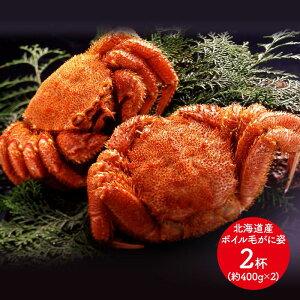 【送料無料】 北海道産 ボイル毛がに姿 約400g×2杯 SK1174 お取り寄せ 毛ガニ カニ 蟹 かに 特産 手土産 お祝い 詰め合せ おすすめ 贈答品 内祝い お礼 2020 お取り寄せグルメ
