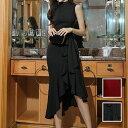 【レビューでプレゼント♪】 韓国 ファッション レディース 韓国 パーティードレス お呼ばれワンピース 夏 春 秋 パーティー ブライダル お取り寄せ naloH537 お呼ばれ コーデ 結婚式 二次会 送料無料 セレブ セクシー 20代 30代 40代 2020 イレギュラーヘム ラッフル マーメ