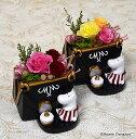 プリザーブドフラワームーミンキャラクターアレンジムーミンママ誕生祝い、母の日、父の日、敬老の日、結婚祝い