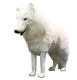 ハンサ【HANSA】リアルぬいぐるみホッキョクオオカミ108cm 特大 白い 立ち姿