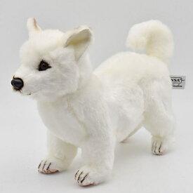 ハンサ【HANSA】リアルぬいぐるみ北海道犬33cm 日本犬