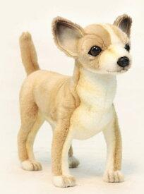 ハンサ【HANSA】リアルぬいぐるみチワワ27cm 茶色 いぬ イヌ ペット