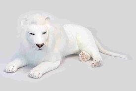 ハンサ【HANSA】リアルぬいぐるみホワイトライオン100cm
