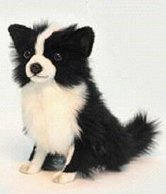 ハンサ【HANSA】リアルぬいぐるみチワワ31cm 白黒 ペット 犬 いぬ わんこ