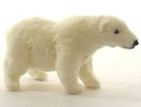 ハンサ【HANSA】リアルぬいぐるみシロクマ26cm 北極ぐま ホッキョクグマ