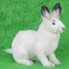 ハンサ【HANSA】リアルぬいぐるみ北極ウサギ 31cm