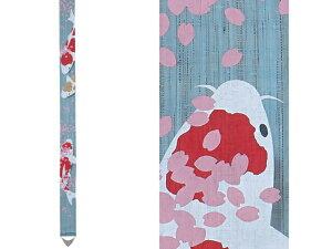 【京都洛柿庵】手染め お正月飾り細タペストリー NISHIKI-KOI 錦鯉