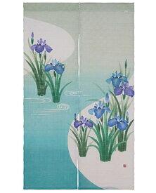 【京都洛柿庵】 端午の節句飾りのれん 水辺に菖蒲
