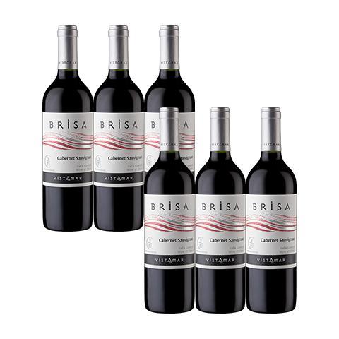 ビスタマール・ブリーザ カベルネ・ソーヴィニヨン6本セット【チリ】【赤ワイン・wine】【VISTAMAR】