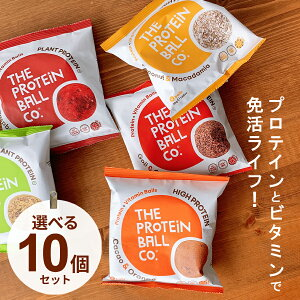 プロテイン+ビタミン ボール 選んで10個セット エナジーボール ビタミンB12 ビタミンC ビタミンD プロテイン お菓子 タンパク質 おやつ 脂質制限 グルテンフリー 砂糖不使用 ダイエット