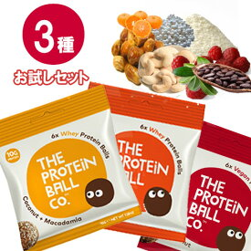 【30%OFFセール】プロテインボール 3種 お試しセット タンパク質 おやつ 脂質制限 ダイエット 無添加 非常食 メール便限定 送料無料