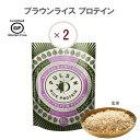 【あす楽】ブラウンライスプロテイン 250g× 2入 玄米プロテイン ビーガン 砂糖不使用 輸入 自然食品 無糖 非常食 子…