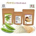 プロテイン 女性 ダイエットプロテイン バラエティ セット えんどう豆プロテイン 玄米プロテイン ホエイプロテイン グ…