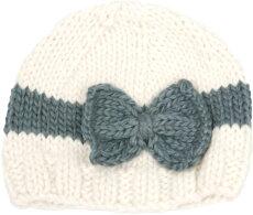 THEBLUEBERRYHILL(ブルーベリーヒル)SabrinaBowサブリナボウクリームグレーニットベビー帽子【あす楽対応】【ナチュラルリビング】