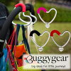 Buggygear (buggy gear) buggy heart hook red carabiner type stroller hook