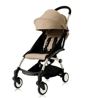 BABY ZEN YOYO baby then yoyo 4+ four plus beige 2014 model white frame / stroller / compact / folding / tea Rex