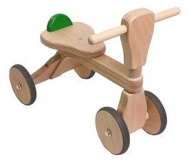 ママ割\ポイント16倍/ファーストバイク 木製 バイク 【正規品】【ラッピング可】 ファースト ウッディ バイク First Woody Bike グリーン 木製バイク 子供 木のおもちゃ 乗用玩具【あす楽対応】【ナチュラルリビング】【ラッキーシール対応】
