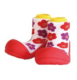 【京都ブラント SOU・SOUコラボレーション】 Baby feet (ベビーフィート) SOU・SOU はなつばき 12.5cm ベビーシューズ ベビースニーカー ファーストシューズ トレーニングシューズ【あす楽対応】【ナチュラルリビング】