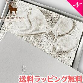 【正規品】【送料無料】 G.H.HURT&SON (ジーエイチハートアンドサン) Kitten Paw Wool Baby Gift Set ベビーギフトセット ホワイト キャット ギフトセット/おくるみ【あす楽対応】