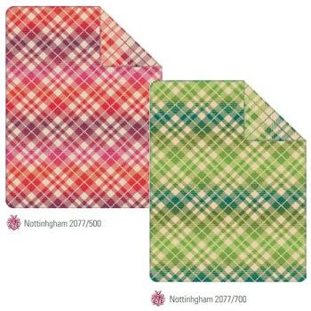 ・数量限定・直輸入・軽量毛布ドイツ・IBENAブランケット綿アクリル混毛布:Art.2077-500/700綿58%アクリル35%エステル7%シングルサイズ:商品重量1,400g【RCP】