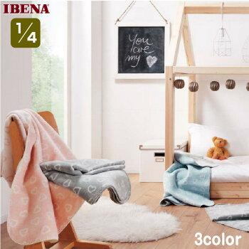 ・数量限定・直輸入・軽量毛布ドイツ・IBENAブランケットベビー綿混毛布:Art.2860-3coler綿58%アクリル35%エステル7%クォーター:75×100cm【RCP】