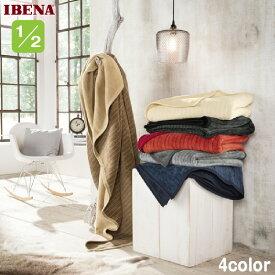 ハーフケットひざ掛けドイツIBENAブランケット綿混ハーフ毛布 Art.987 4color綿58%アクリル35%ポリエステル7%ハーフサイズ 100×150cm数量限定・直輸入・軽量毛布4枚セットではありません