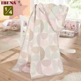 ドイツ・IBENAブランケットベビー綿毛布: Art.2110綿100%クォーター:75×100cm数量限定・直輸入・軽量毛布