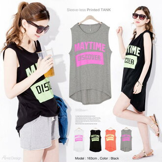 New simple 4 colors USED wind letters short sleeve clothing print cotton logo tank top Sleeveless Tank Tops T shirt White yoga M size M ladies ladies ladies ladies sewn black white gray fitness black black Yoga clothes yoga wear