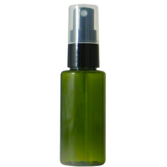 PET Bottle with Spray Top, 50mL Green 1pc