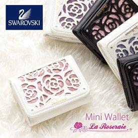 財布 レディース 三つ折り財布 コンパクト ミニ財布 おしゃれ 三つ折り 小さい財布 かわいい 花柄 薔薇 バラ柄 ショートウォレット ギフト プレゼント NATURALdesign LaRoseraieMiniWallet