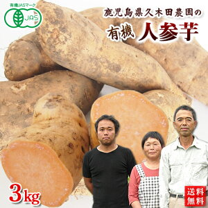 有機さつまいも にんじん芋3kg 鹿児島県産オーガニック【送料無料】