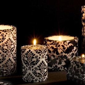 Natural Light Candle (ナチュラルライトキャンドル)4インチ パイナップルダマスク ラウンドピラー【人気 ギフト プレゼント】 アロマキャンドル 蜜蝋 天然香料 結婚式 女性 バリ 【3,000円以上 送料無料】