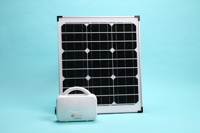 ソーラー発電セット / ナノ発電所タイニーライト + 40W ソーラーパネル薄型[正規ルート品][日本語取扱説明書]